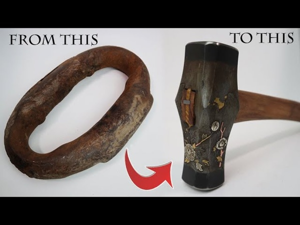 Engraved Hammer from 100yr old Anchor Chain