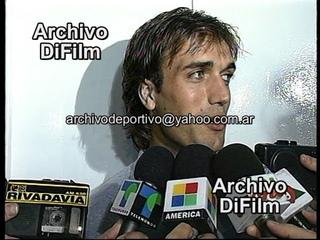 Reportaje a Gabriel Batistuta, Abel Balbo y Cristante - DiFilm 1995
