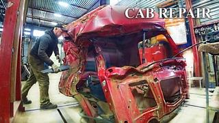 Сложный ремонт кабины грузовика / The most difficult truck cab repair / Розыгрыш