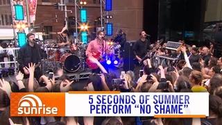"5SOS perform ""No Shame"" live on Australian TV | Sunrise"
