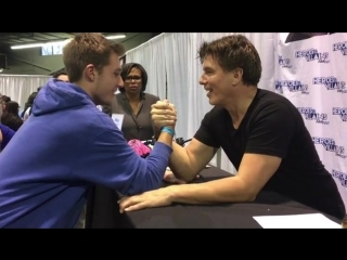 Arm wrestling with the boys? Oh Yeah!  #Chicago #MichiganBoys JB