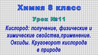 Химия 8 класс (Урок№11 - Кислород: получение, физические и химические свойства,применение. Оксиды.)