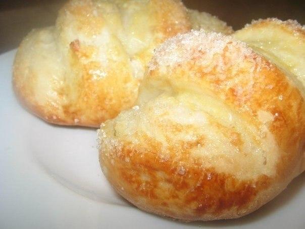 Булочки ванильные с сахаром.(Тесто потрясающее.!!!)