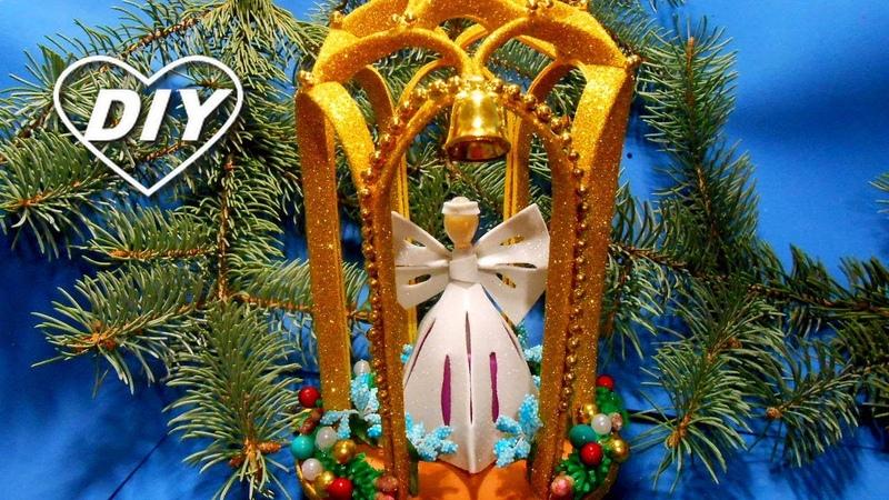 Рождественские поделки из фома ДОМИК для АНГЕЛА Foam Angel House Casa del ángel Angel House