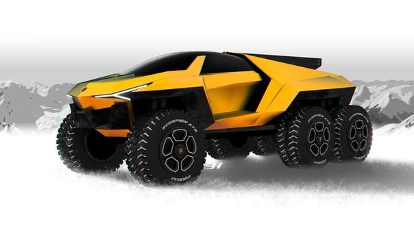 Lamborghini Raton: шестиколесный экстремальный внедорожник Официальная премьера нового спортивного кроссовера Lamborghini Urus вдохновила множество независимых дизайнеров, которые начала