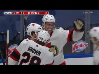 Первый гол в НХЛ Артема Зуба. NHL 20/21 Artem Zub 1 goal