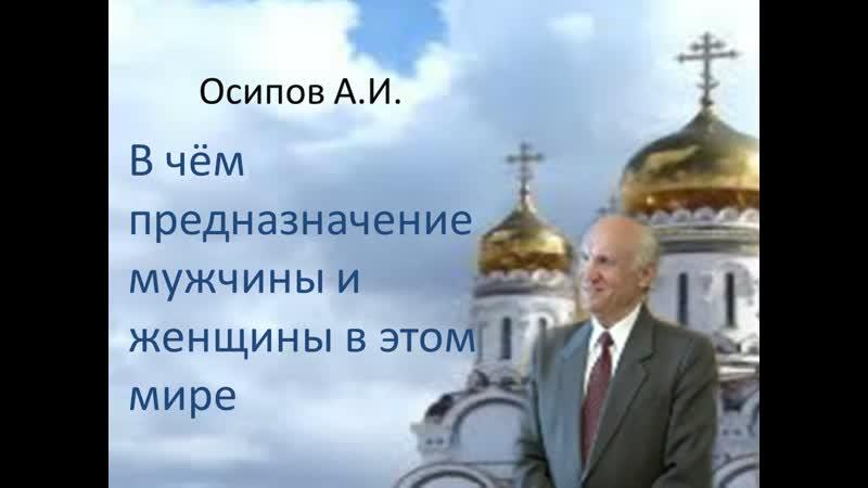 О предназначении мужчины и женщины в этом мире Осипов Алексей Ильич