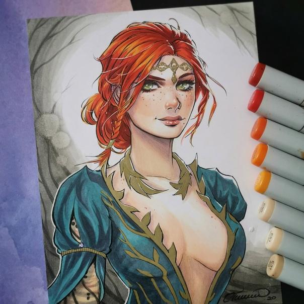 Triss Merigold Cosplay On Imgur Girls Witcher Art The Erotic Beauties 1