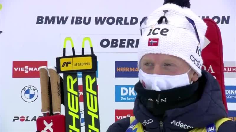 Йоханнес Бё о 50 ой личной победе Оберхоф 2021