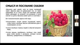 """Студия """"Сказкотерапия Василиса Премудрая""""  фрагмент вебинара Татьяны Пронькиной, аналит. психолога."""