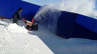 Мой Снегирёк снегоуборщик ( часть 2 )
