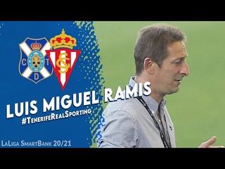CD Tenerife | Luis Miguel Ramis describe el importante éxito ante el Real Sporting