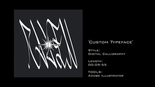 Custom Digital Calligraphy Typeface Illustrator Tutorial