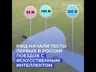 РЖД начали тесты первых в России поездов с искусственным интеллектом