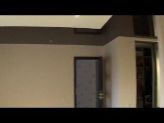Натяжной потолок темно коричневый 577 цвет