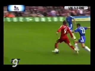 First Torres oficial goal in Red shirt. Liverpool F.C. 1  Chelsea 1 (19-08-07). 1-0