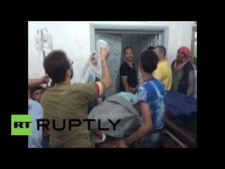 Сирия: Артобстрел убивает по меньшей мере 25 мирных жителей в Алеппо во время Ид аль-Фитр огня.