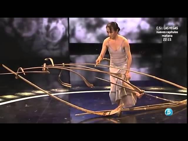 Перо Шоу талантов Невероятный номер Зал аплодировал стоя