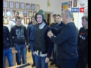 Елецкие студенты побывали на экскурсии в елецкой полиции