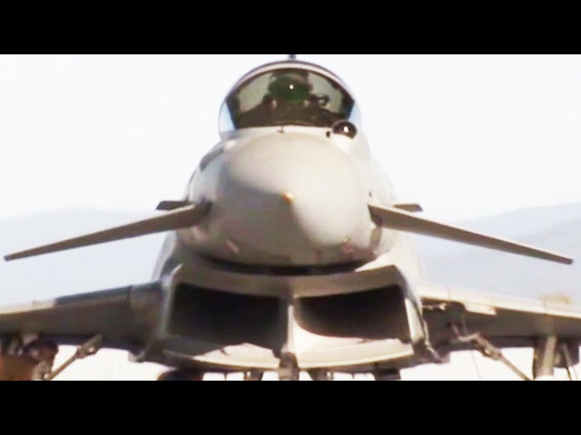 The Most Powerful European Union Jet Fghter in Action Eurofighter Typhoon
