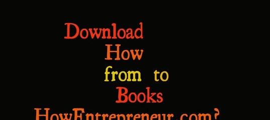 Free Books For Entrepreneurs | ВКонтакте