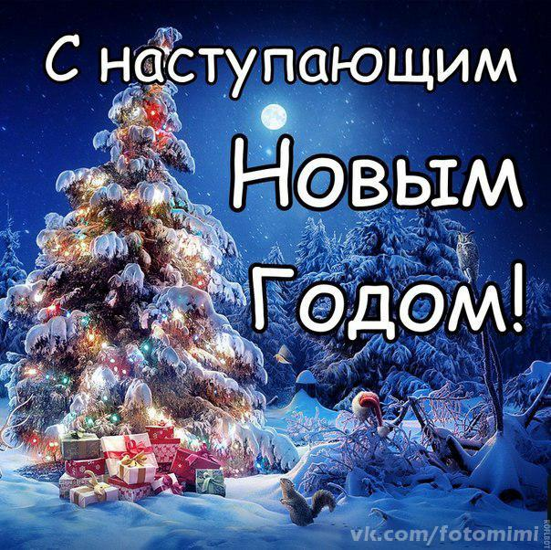 Наступающим новогоднее поздравление