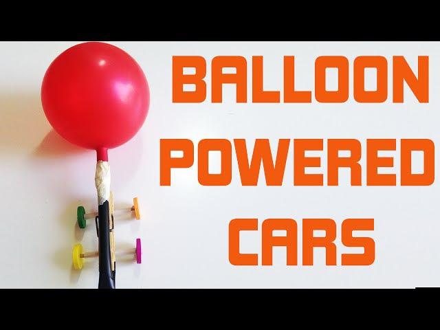 DIY for kids Balloon powerd cars very easy tutorial