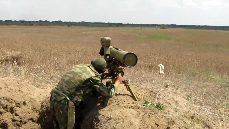 Приведение в боевое положение ПТРК 9К111 Фагот