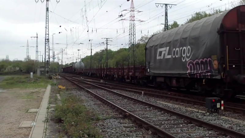 Cologne Gremberg Germany 27 4 2015 Freight Train 12