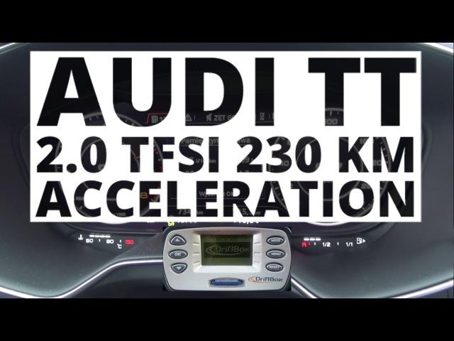 Audi TT quattro 2 0 TFSI 230 hp AT Разгон от 0 до 100 км ч NaZa5aske