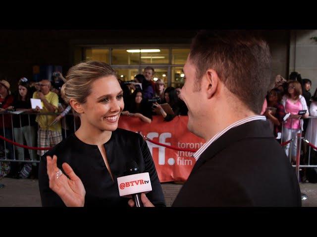 Elizabeth Olsen at the I Saw the Light Premiere with Arthur Kade