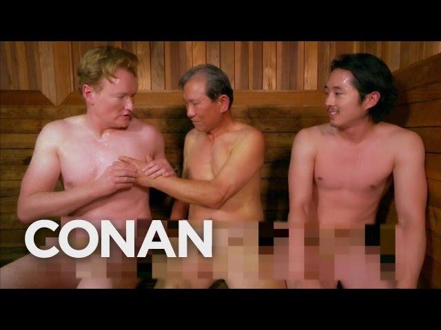 Steven Yeun Conan Visit A Korean Spa CONAN on TBS