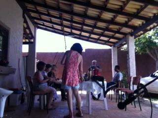 Orquestra Harmônica Berimbaus: M. Dom Ivan, Clodoaldo, Baleado. Laura, Bella, Mônica. 14fev14. 05