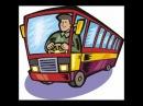 Hjulene på bussen Norsk med tekst