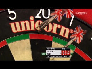 Dave Chisnall vs James Wade (2017 Premier League Darts / Week 15)
