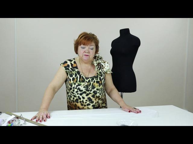 Пройма рукава квадратной формы Как сделать выкройку стойки переходящей в бант на платье Часть 4