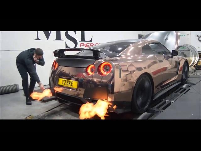 Nissan GT-R R35   Armytrix Система выхлопа VALVETRONIC   обороты ускорение звук!
