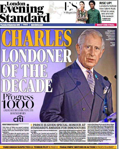 London Evening Standard - 8 September 2016
