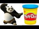 Play Doh Stop Motion Surprise Toys! KUNG FU PANDA STOP MOTION VIDEO