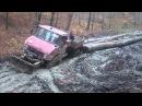 Mercedes unimog Lubo 4 waldarbeiter wald extrem