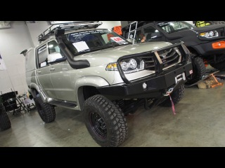 UAZ Patriot Pickup 4x4 Offroad Tuning  -  Exterior Walkaround - Moscow Offroad Show 2015
