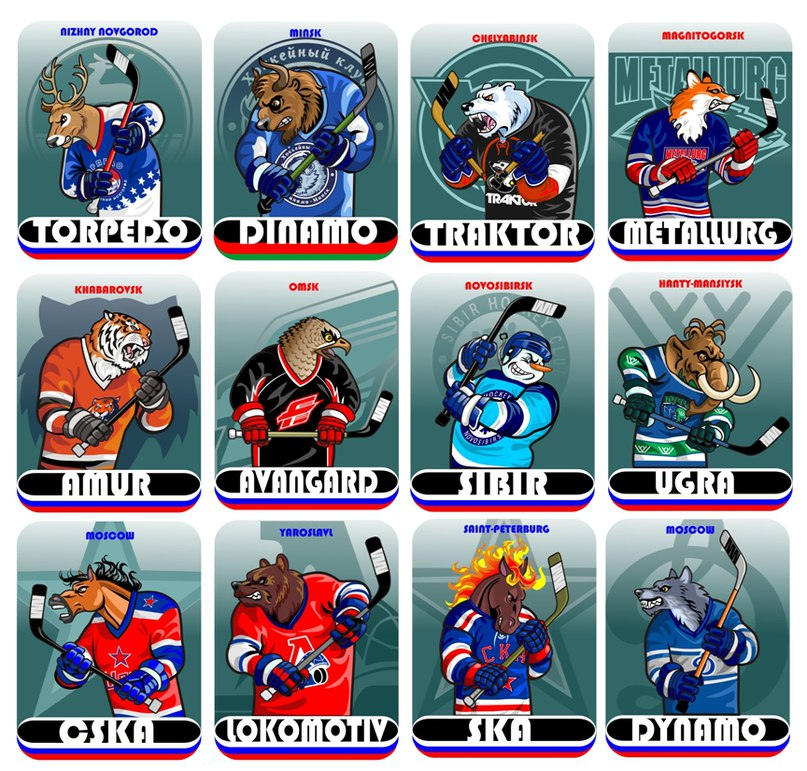 Все хоккейные клубы россии кхл