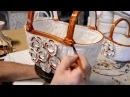 Ceramic roses hand made and hand decorated by Ceramics F.L. Orgia