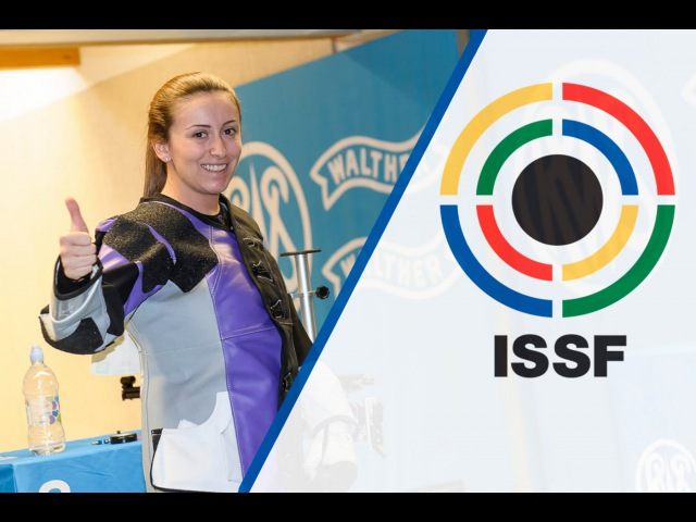 Interview with Andrea ARSOVIC SRB 2016 ISSF Rifle and Pistol World Cup in Munich GER