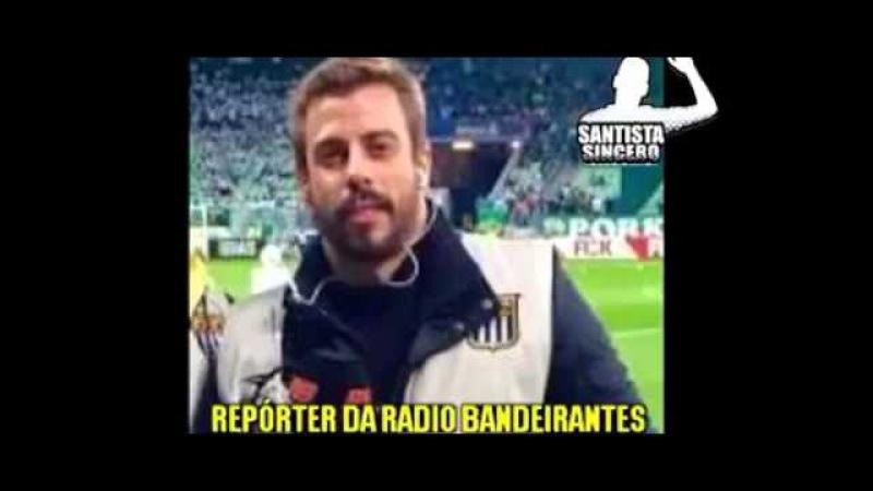 Jornalista Felippe Facincani humilhando o Palmeiras e xingando os jogadores