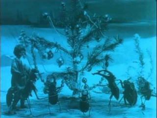 Рождество обитателей леса - 1912  Старый русский мультфильм Старевича