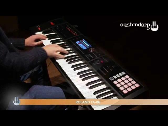 Roland FA06 Workstation Sound Demo Oostendorp Muziek