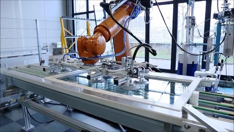 Технологія вклеювання склопакету bonding inside