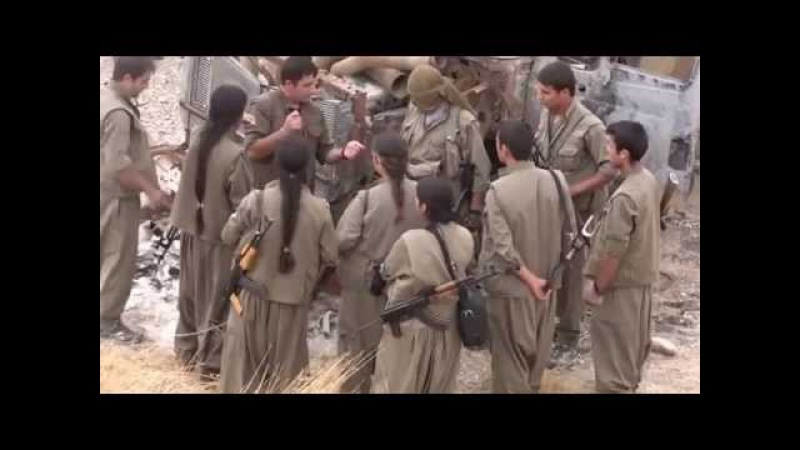 Kurdish PKK fighters are training for combat Kirkuk Iraq Kurdistan