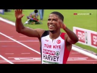 Jak Ali Harvey 100m Semifinal 2 Men's HD European Athletics Championships Amsterdam 2016